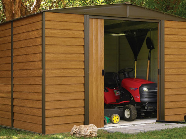 woodhaven shed, steel shed, man cave