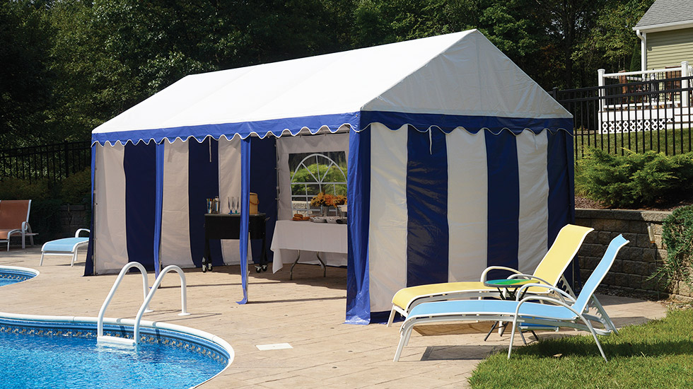 Party Tent Poolside