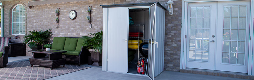 Spacemaker Patio Steel Storage Shed