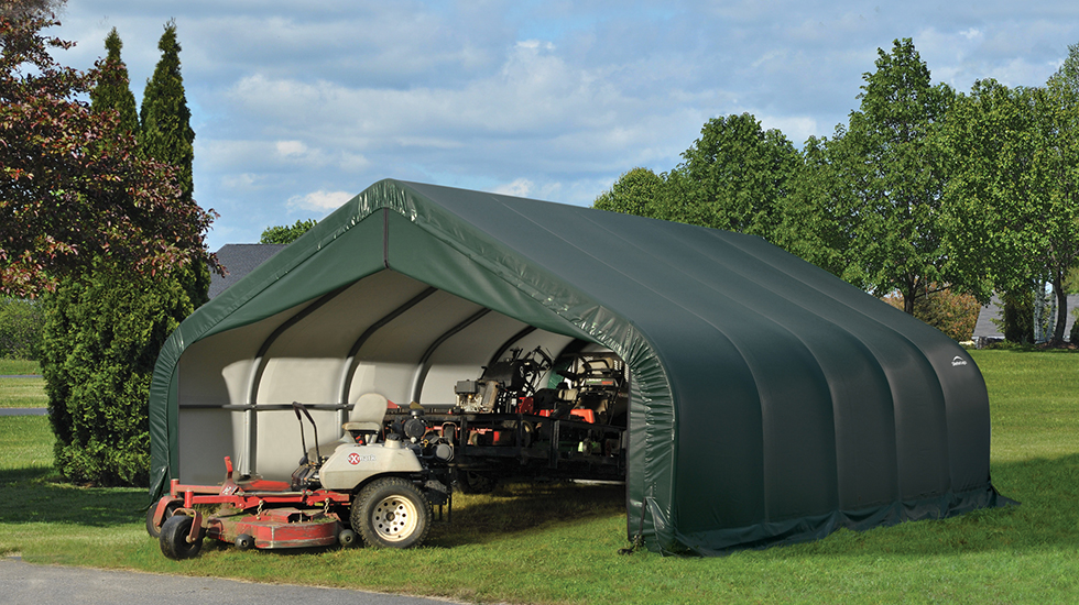 Tarp Shelter Garage : How to maintain tarp buildings shelterlogic canada