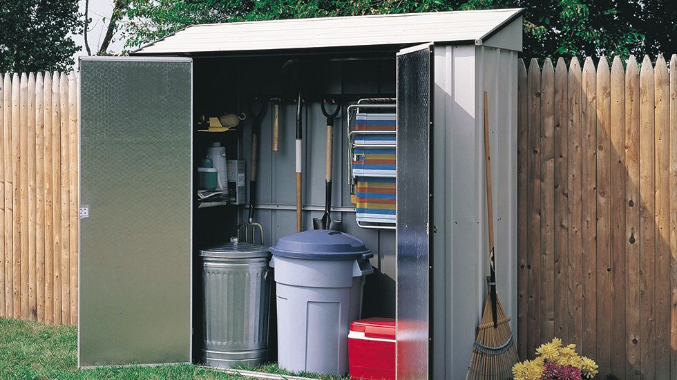 shed garbage redwood and recycling beautiful bins storage green sheds brown for recycle